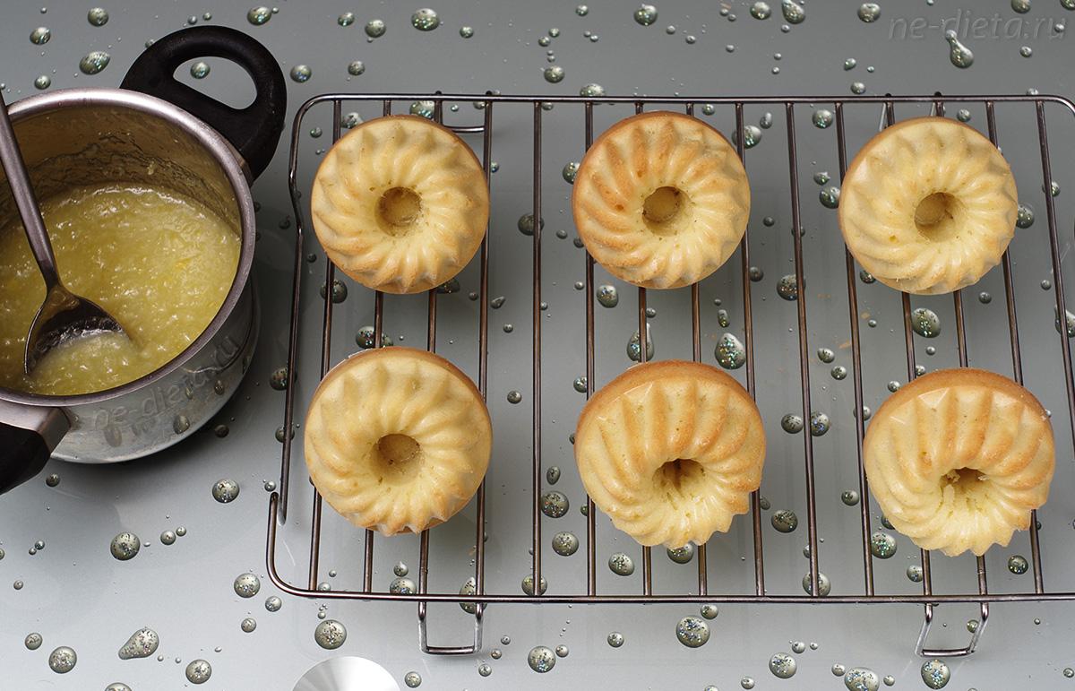 Кексы заполнить лимонной начинкой
