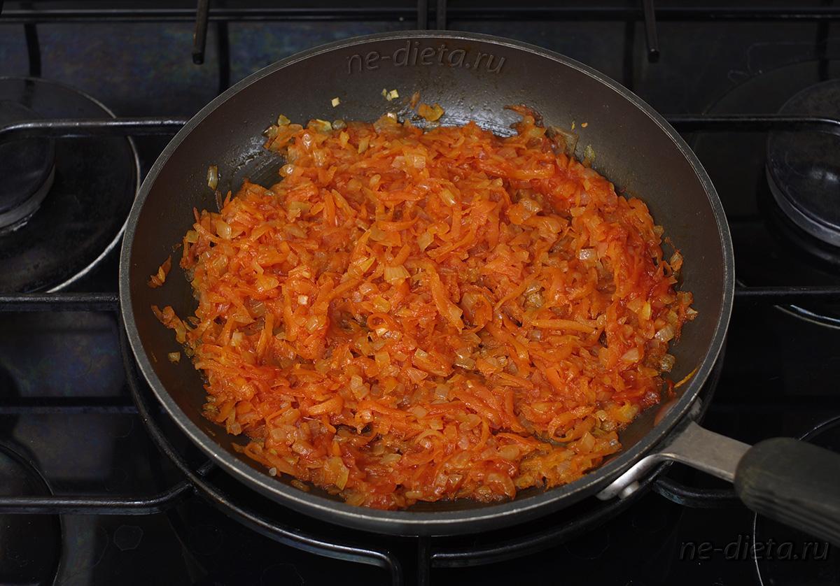 Зажарка для борща с томатной пастой