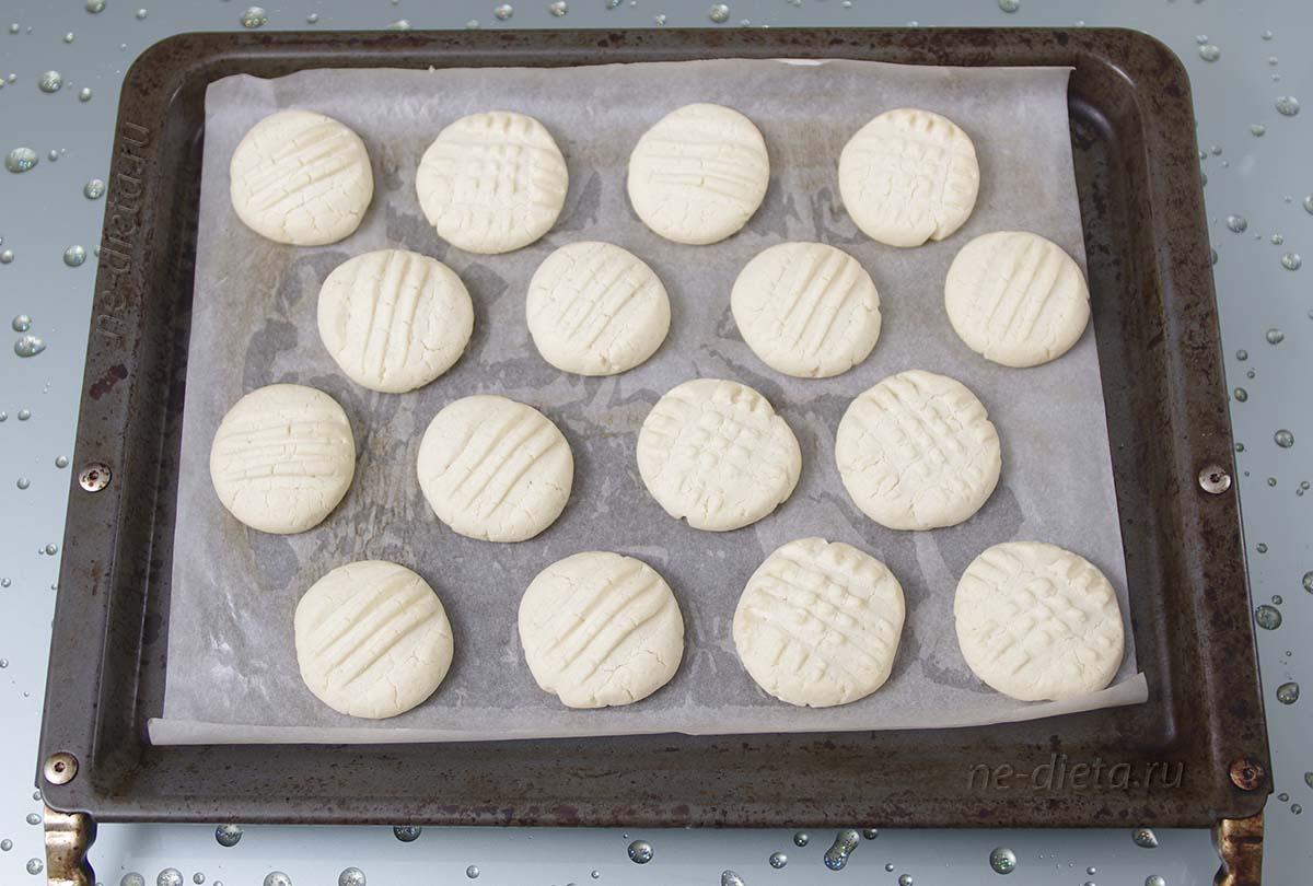Печенье Снежинки на противне
