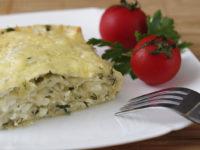 Пирог из лаваша с сыром и творогом