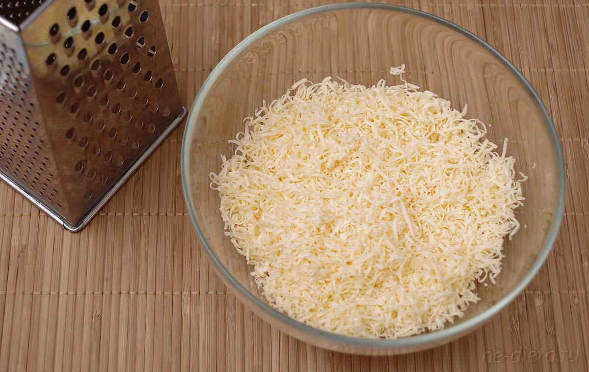 Сыр потереть на мелкой терке