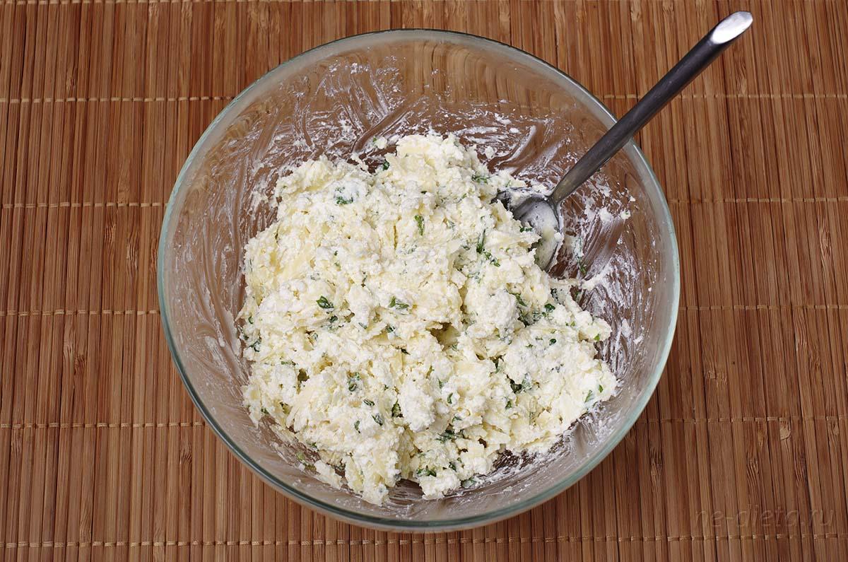 Начинка для хачапури с творогом и сыром
