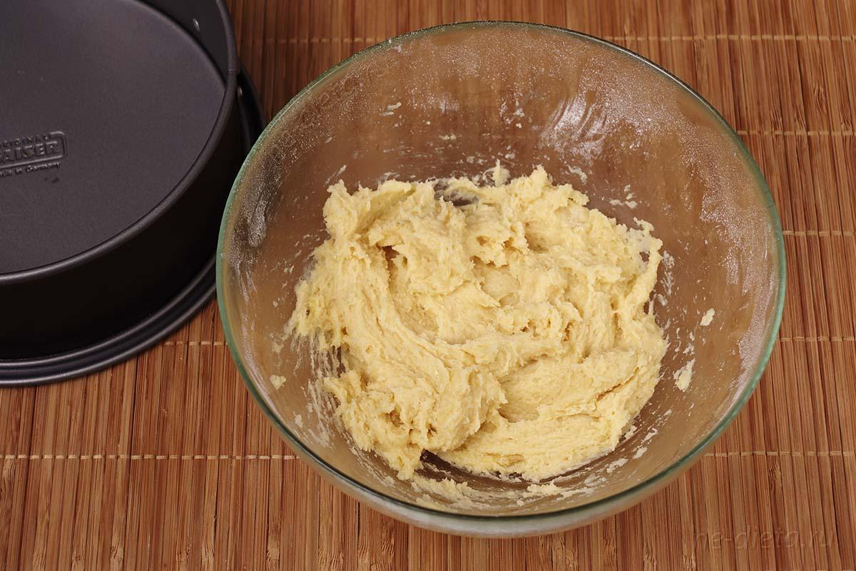 Тесто для песочной основы творожного чизкейка