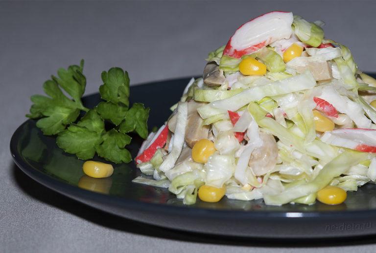 Салат из крабовых палочек — 4 простых и вкусных рецепта