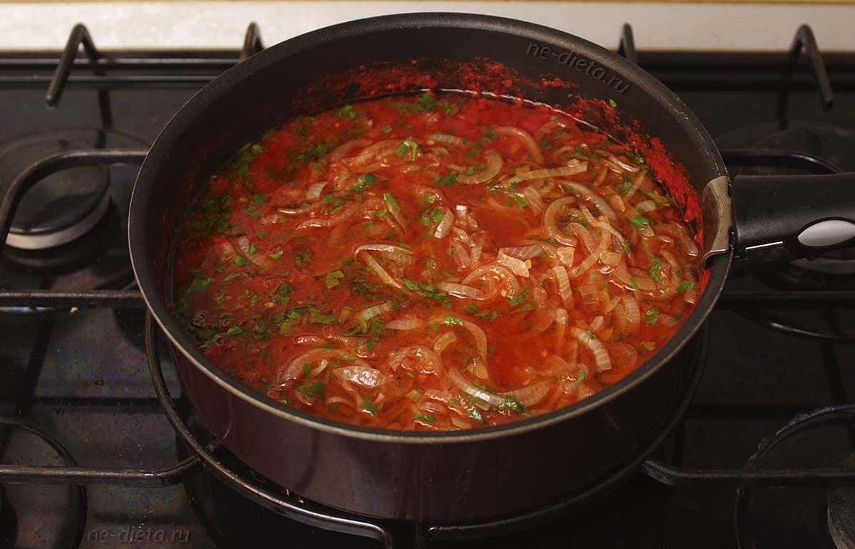 Томатный соус для имам баялды