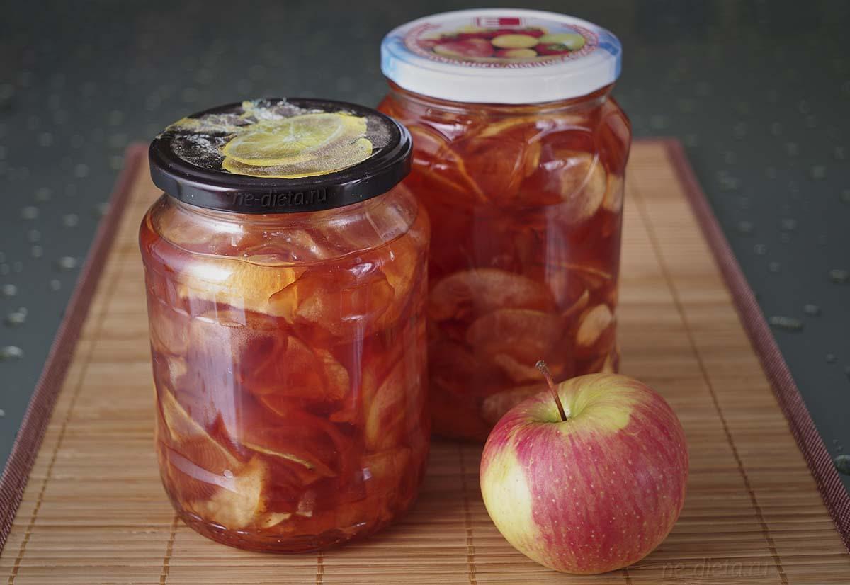 Янтарное яблочное варенье дольками
