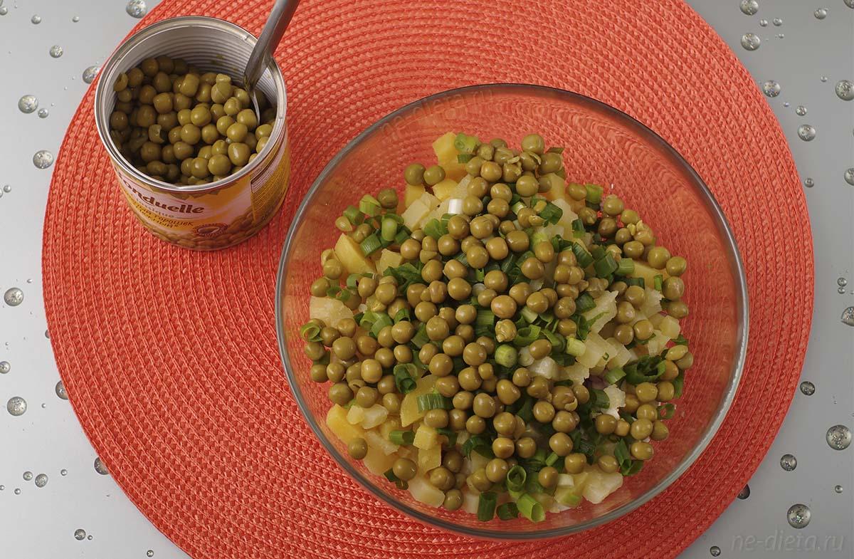 Зеленый горошек добавить в салат