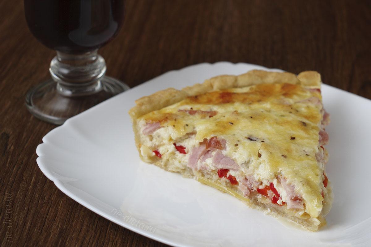 Лоранский пирог с ветчиной и сыром