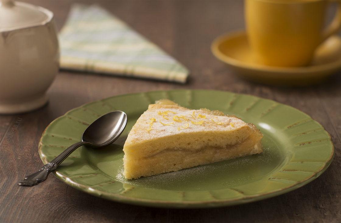 Простой пирог с лимоном