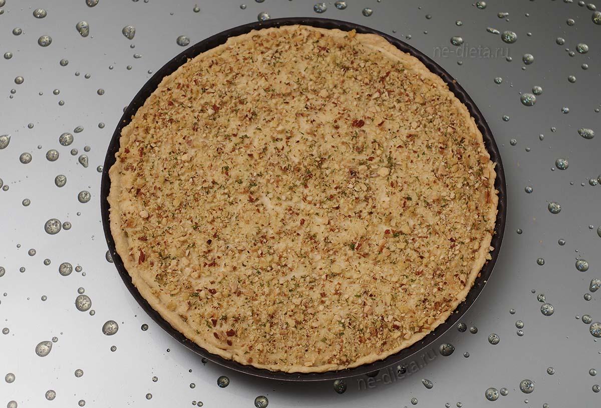 Рыбный пирог из песочного теста