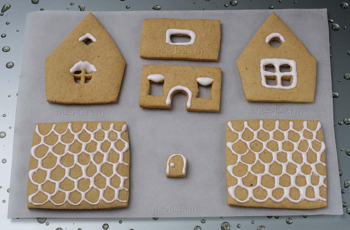 Украсить пряничный домик белковой глазурью