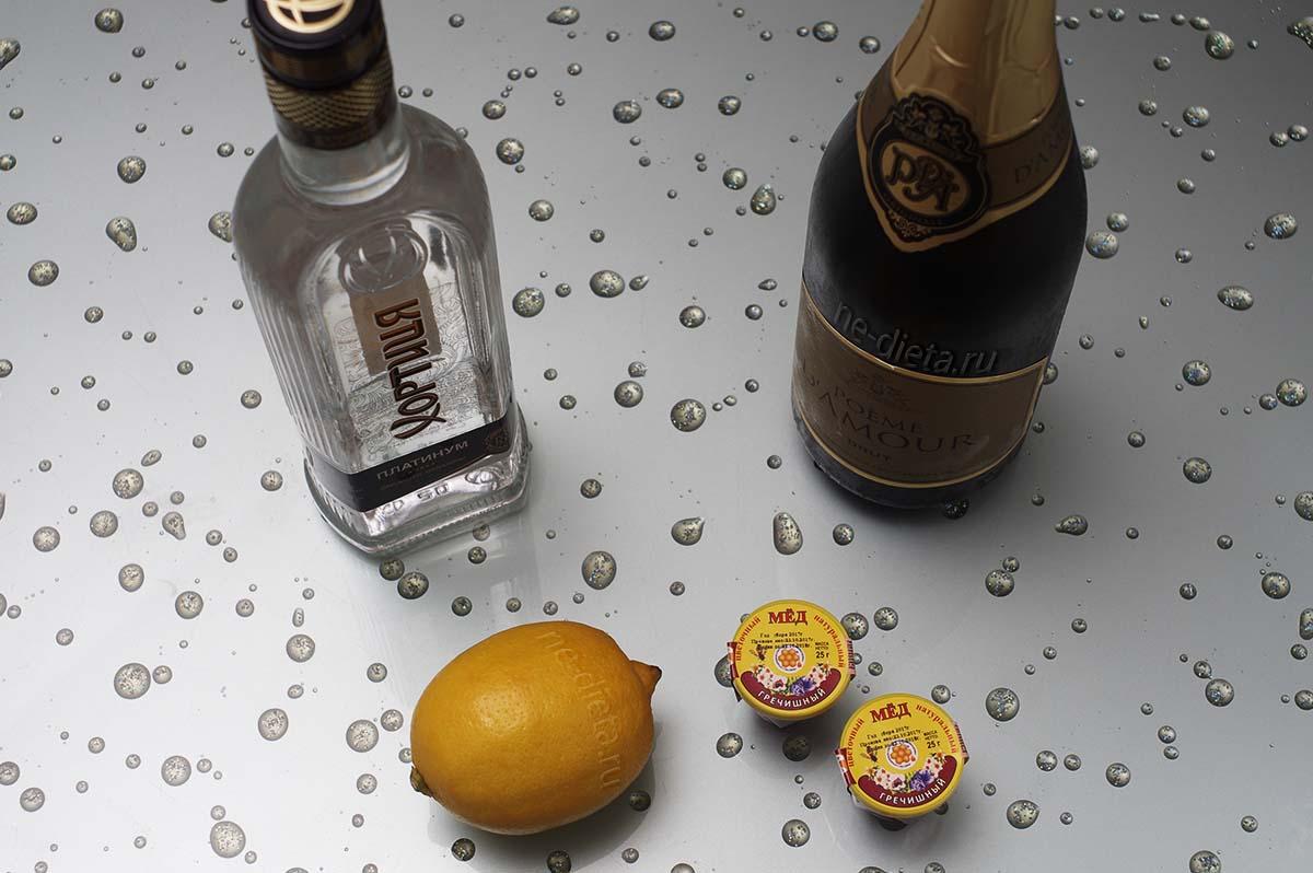 Ингредиенты для коктейля Северное сияние