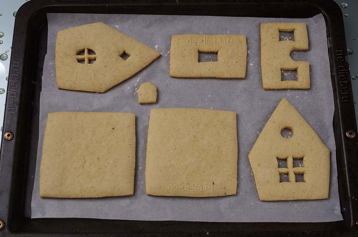 Готовые детали для пряничного домика