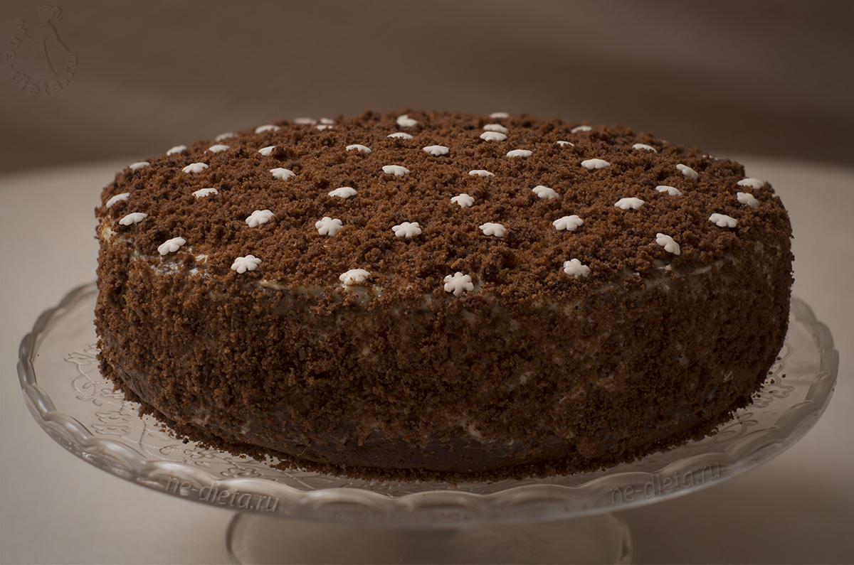 Шоколадный торт с кремом из маскарпоне