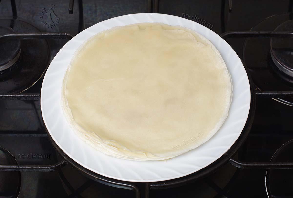 Тонкие блины на молоке для фарширования