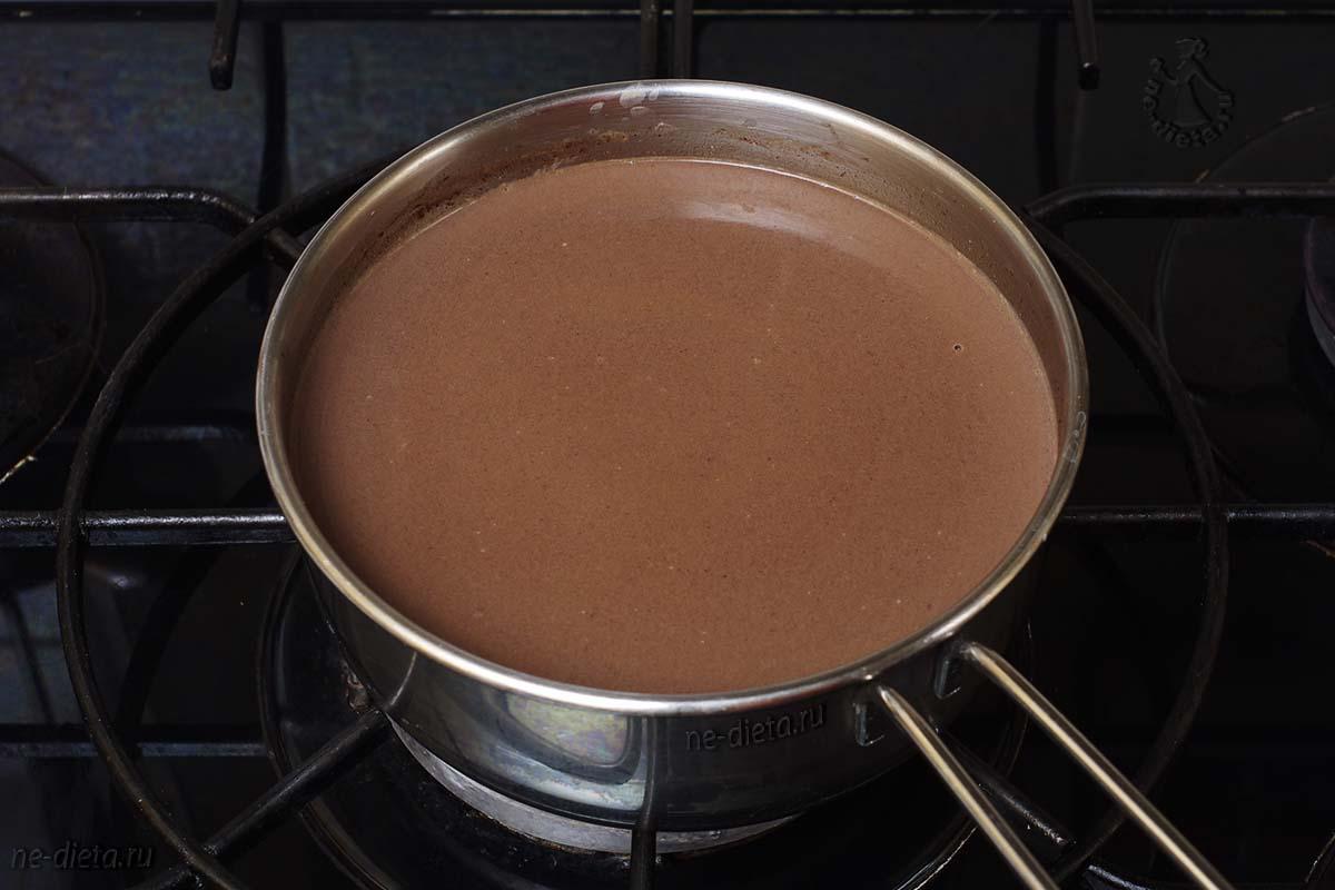 Растворить шоколад