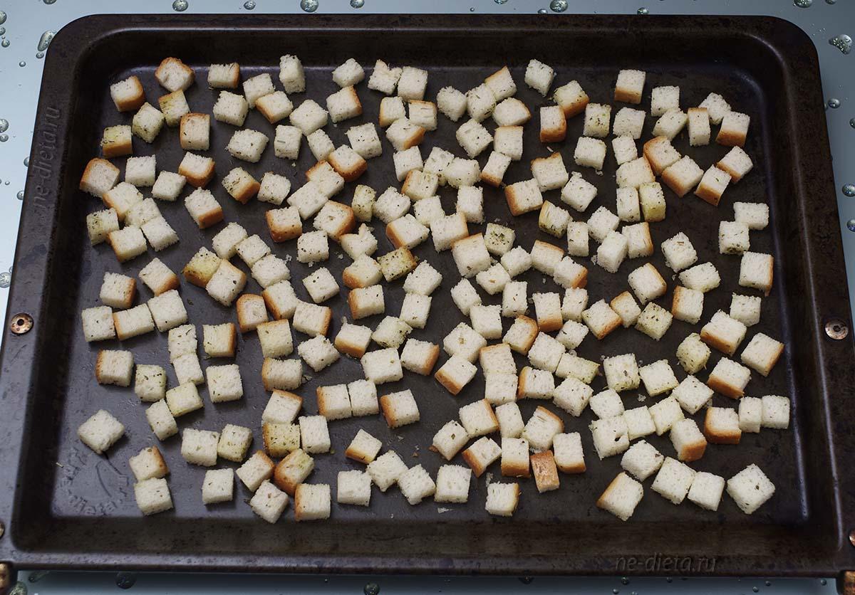 Хлеб подсушить в духовке