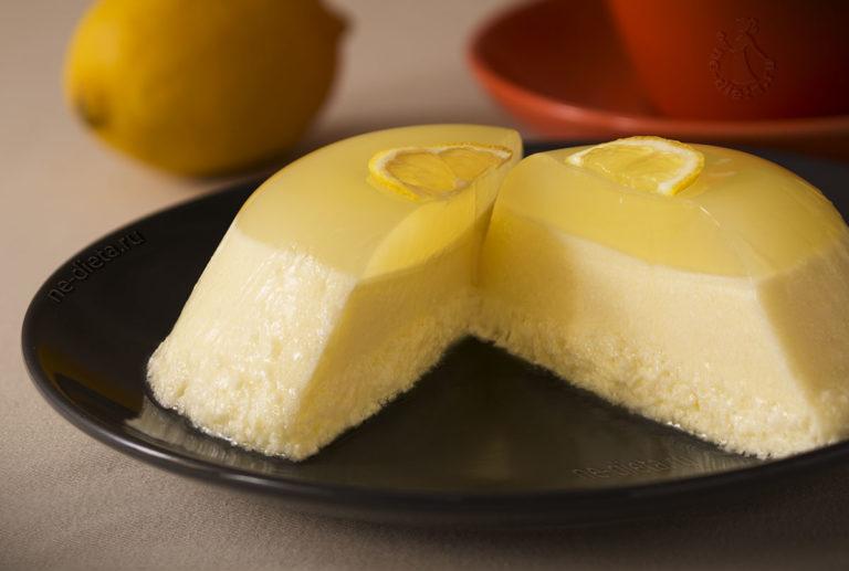 Трехслойный лимонный десерт