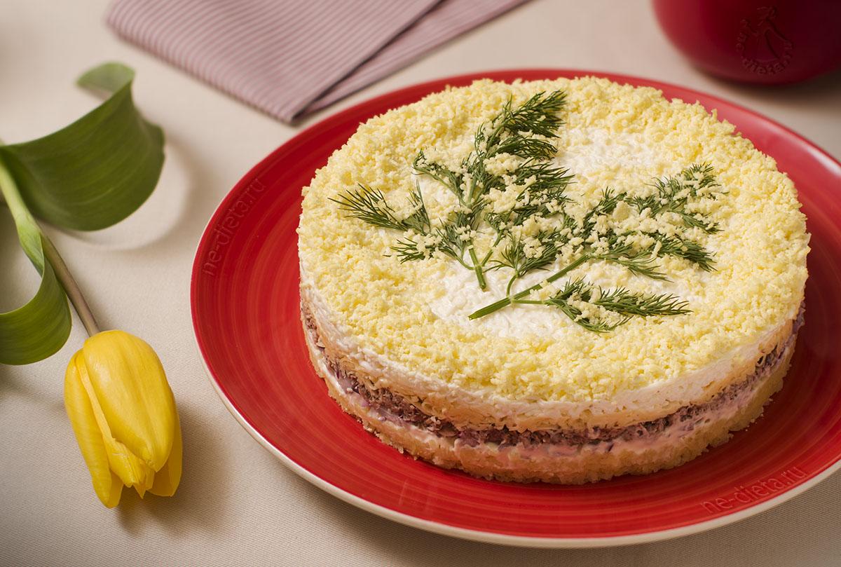 Салат Мимоза — рецепт классический с пошаговыми фото