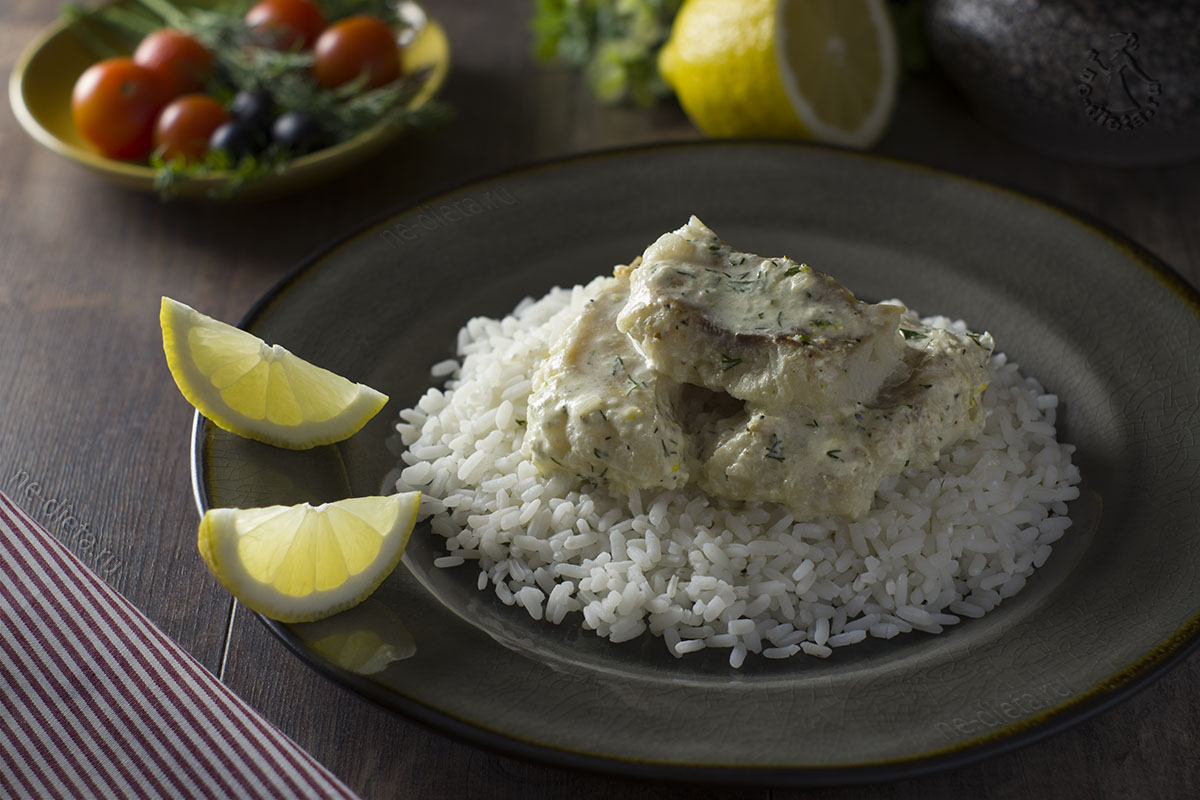 Рыба в сметанном соусе