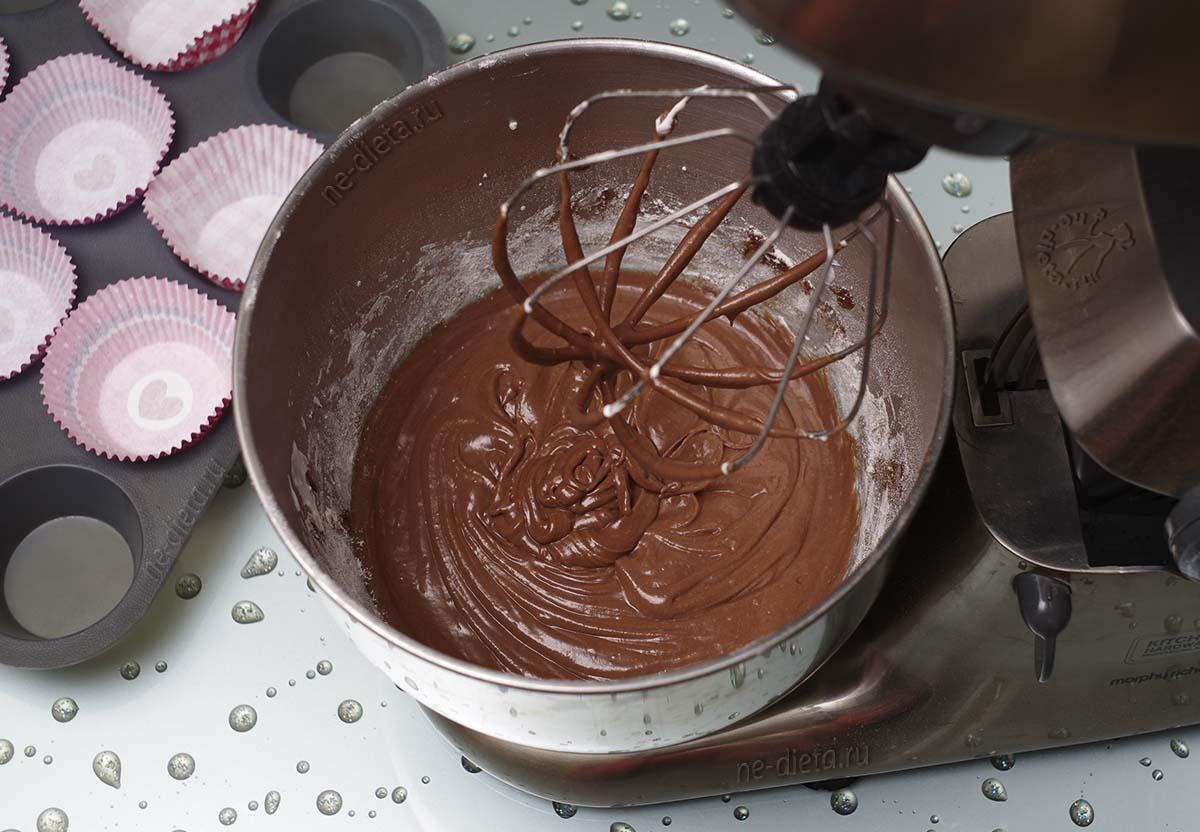 Тесто для шоколадных капкейков