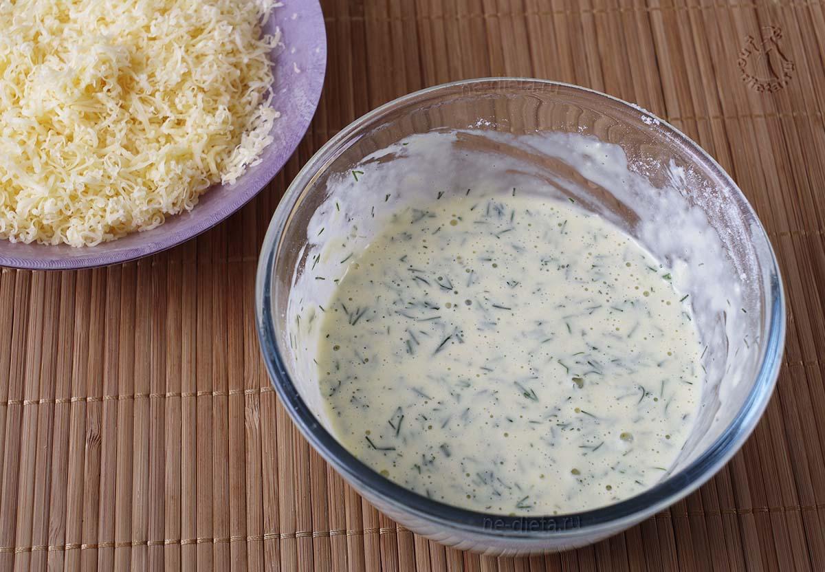 Кляр и сыр для отбивных