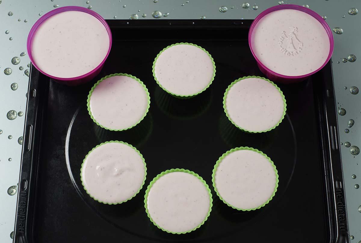 Творожный десерт в силиконовых формочках