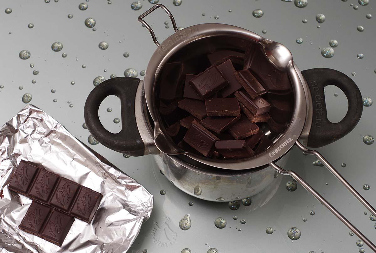 Шоколад поломать на квадратики
