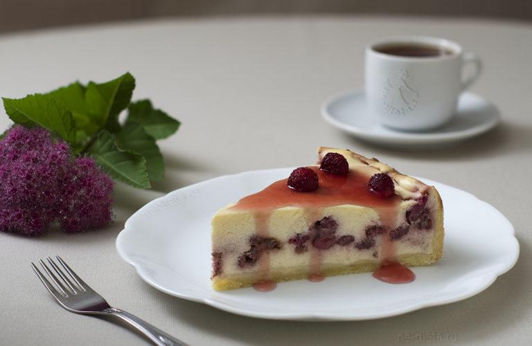 Творожный пирог с земляникой