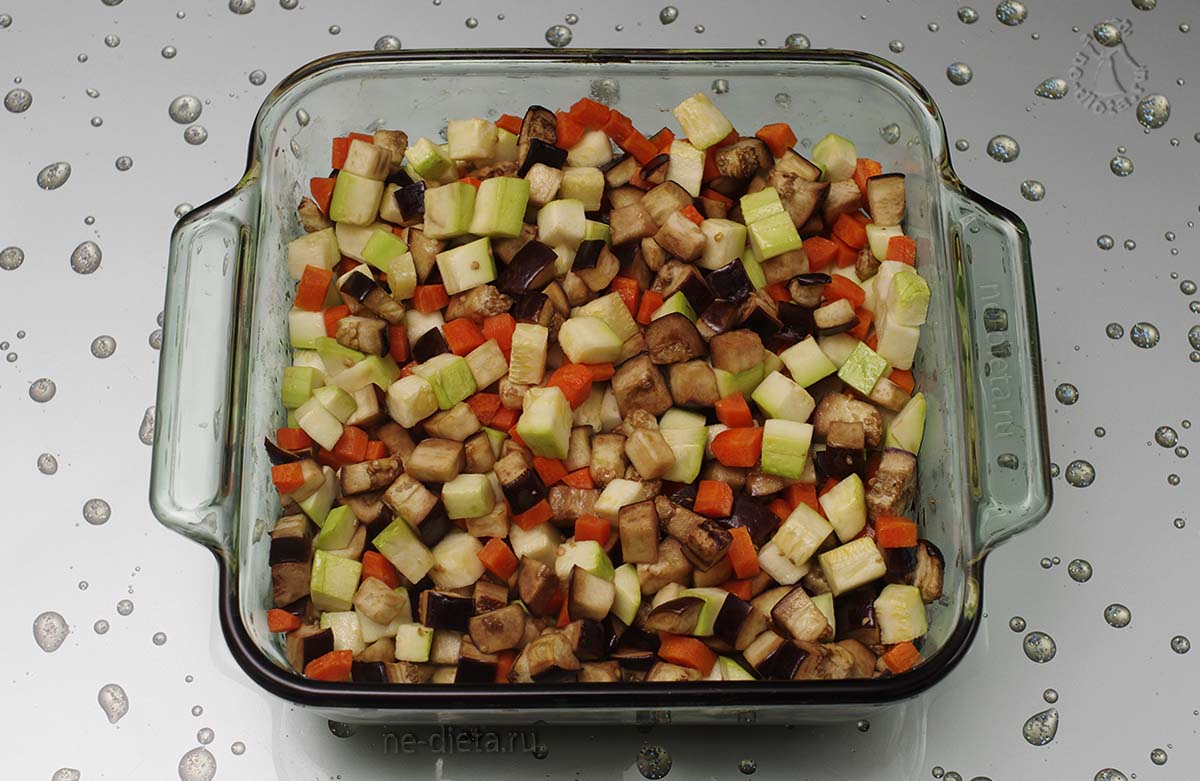 Запекать овощи 30 минут