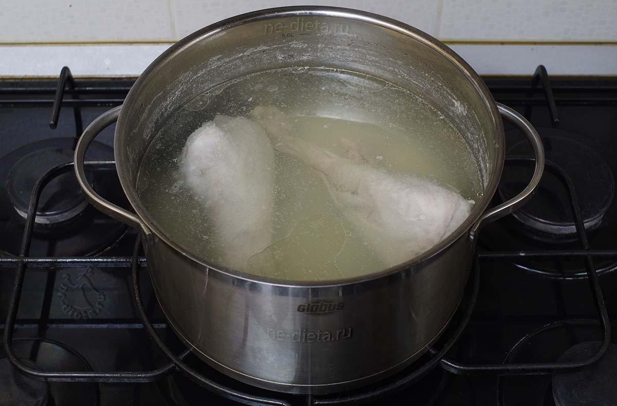 Сварить бульон из голени индейки