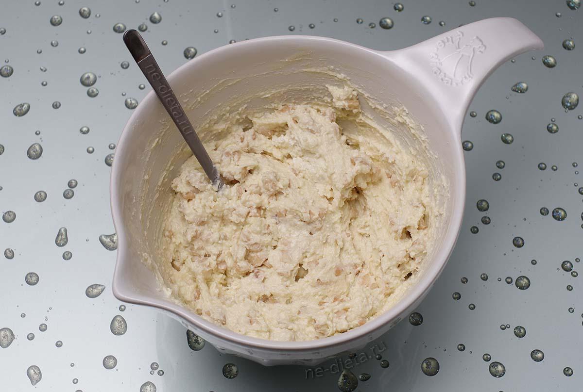 Тесто для сырников с яблоками
