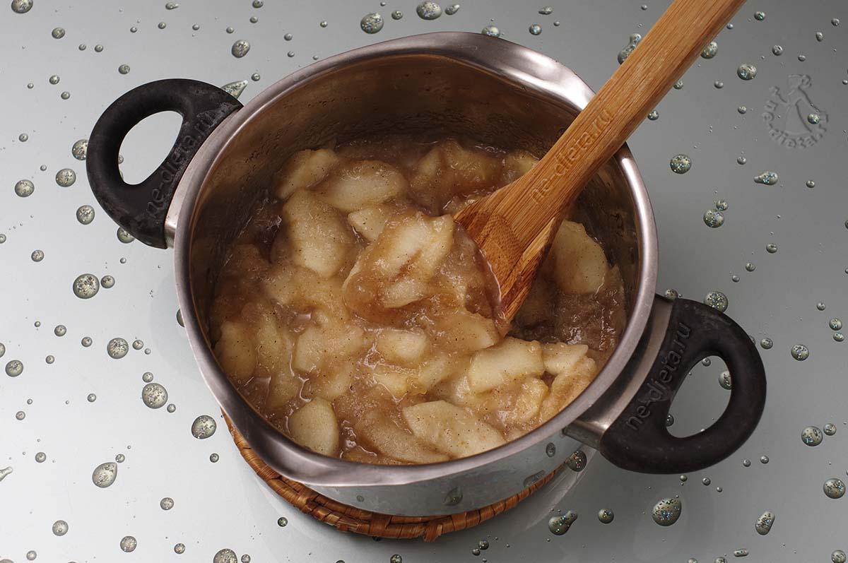 Начинка из яблок для песочного пирога
