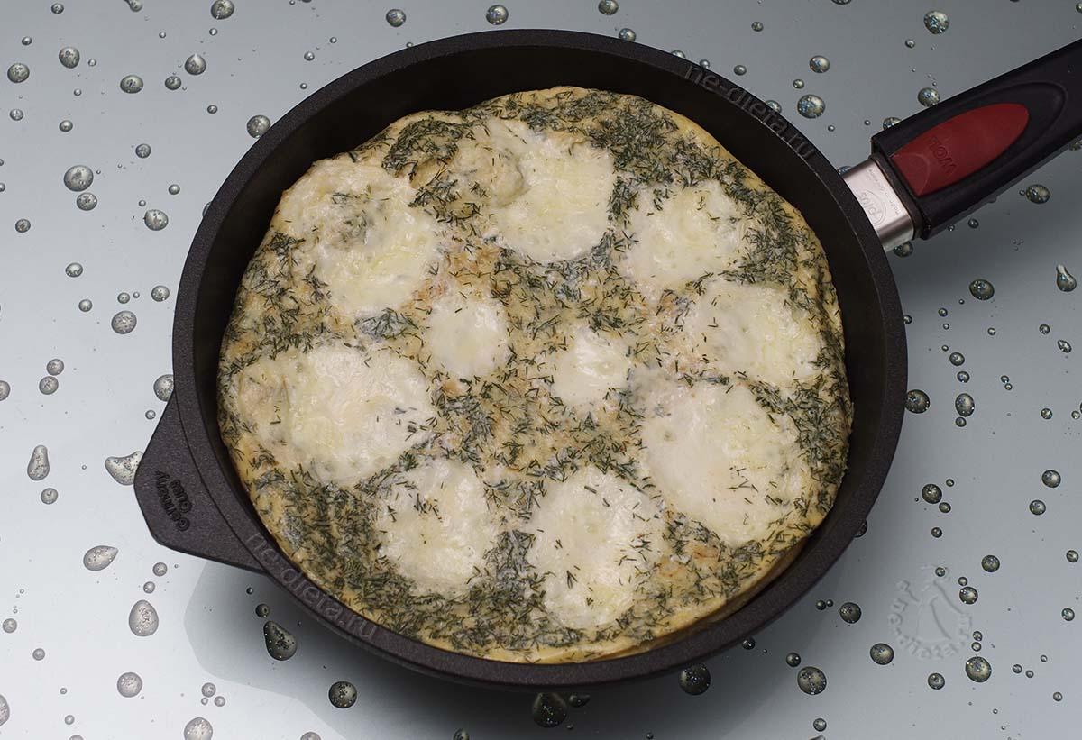 Сырный омлет с овсянкой