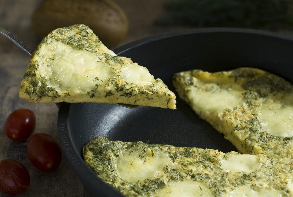 Омлет с сыром и овсянкой