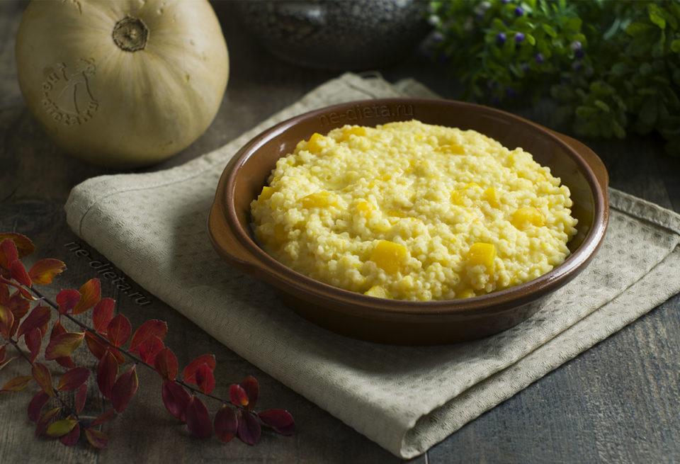 Удобнее всего готовить тыквенную кашу с пшеном на молоке в мультиварке.