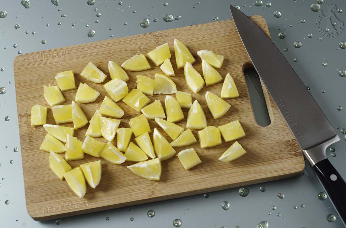 Лимон порезать