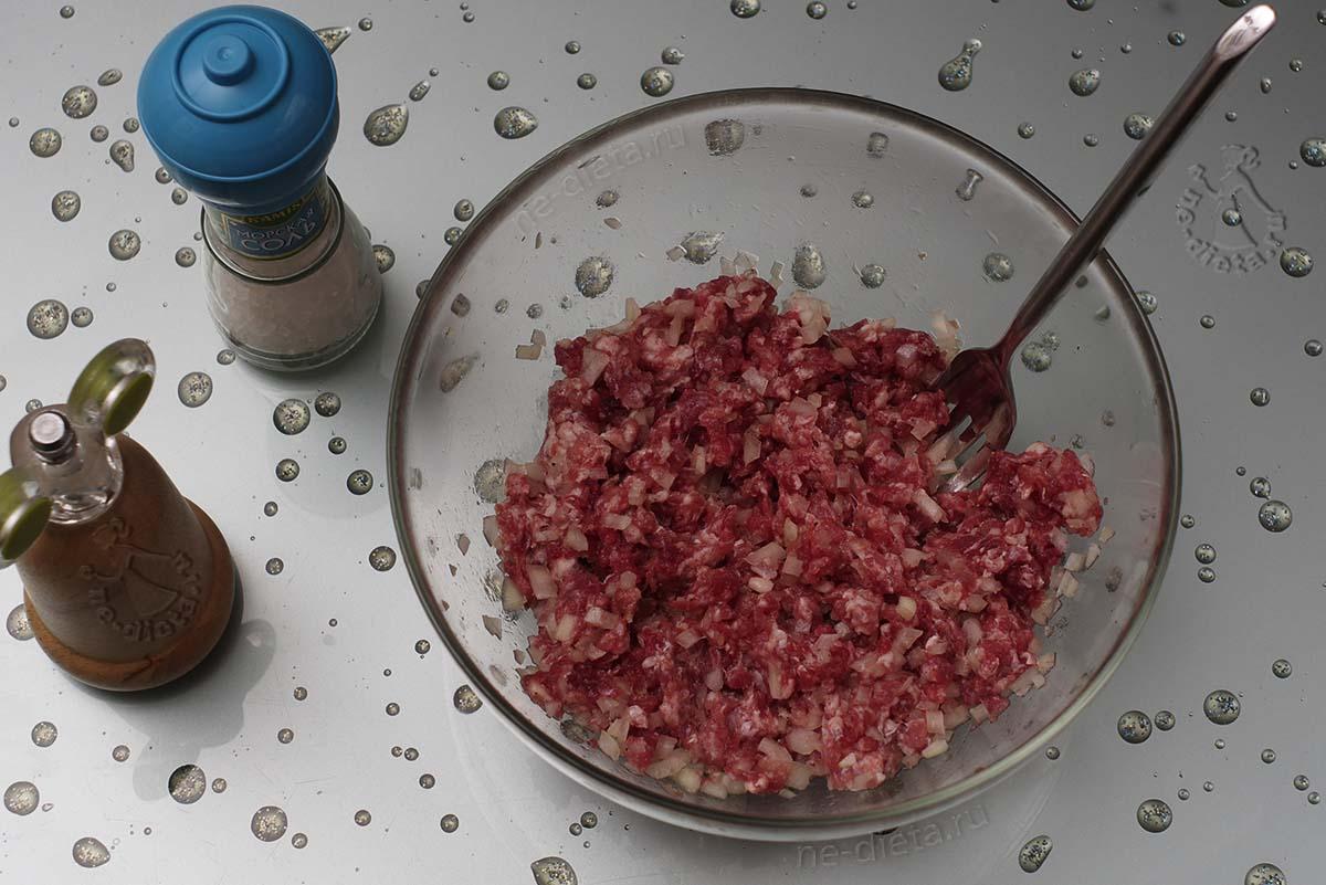Мясная начинка для татарских пирожков