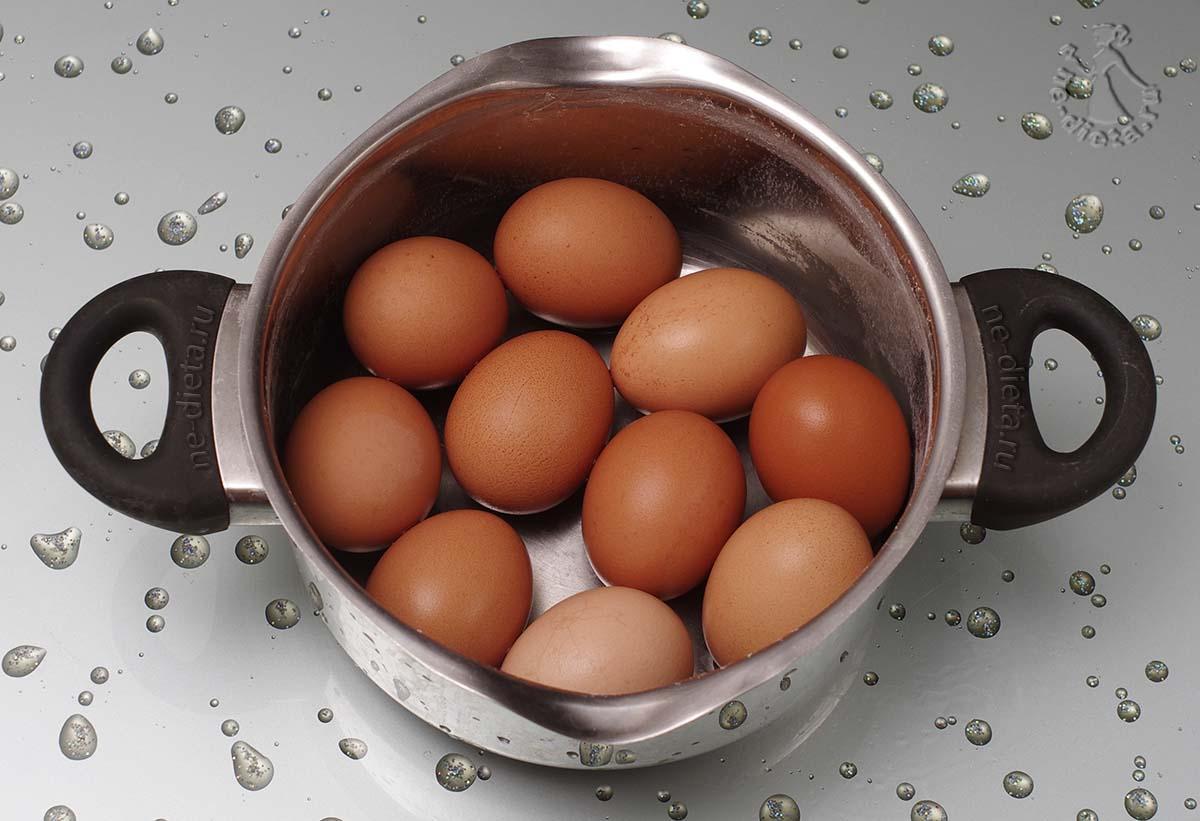 Яйца отварить вкрутую