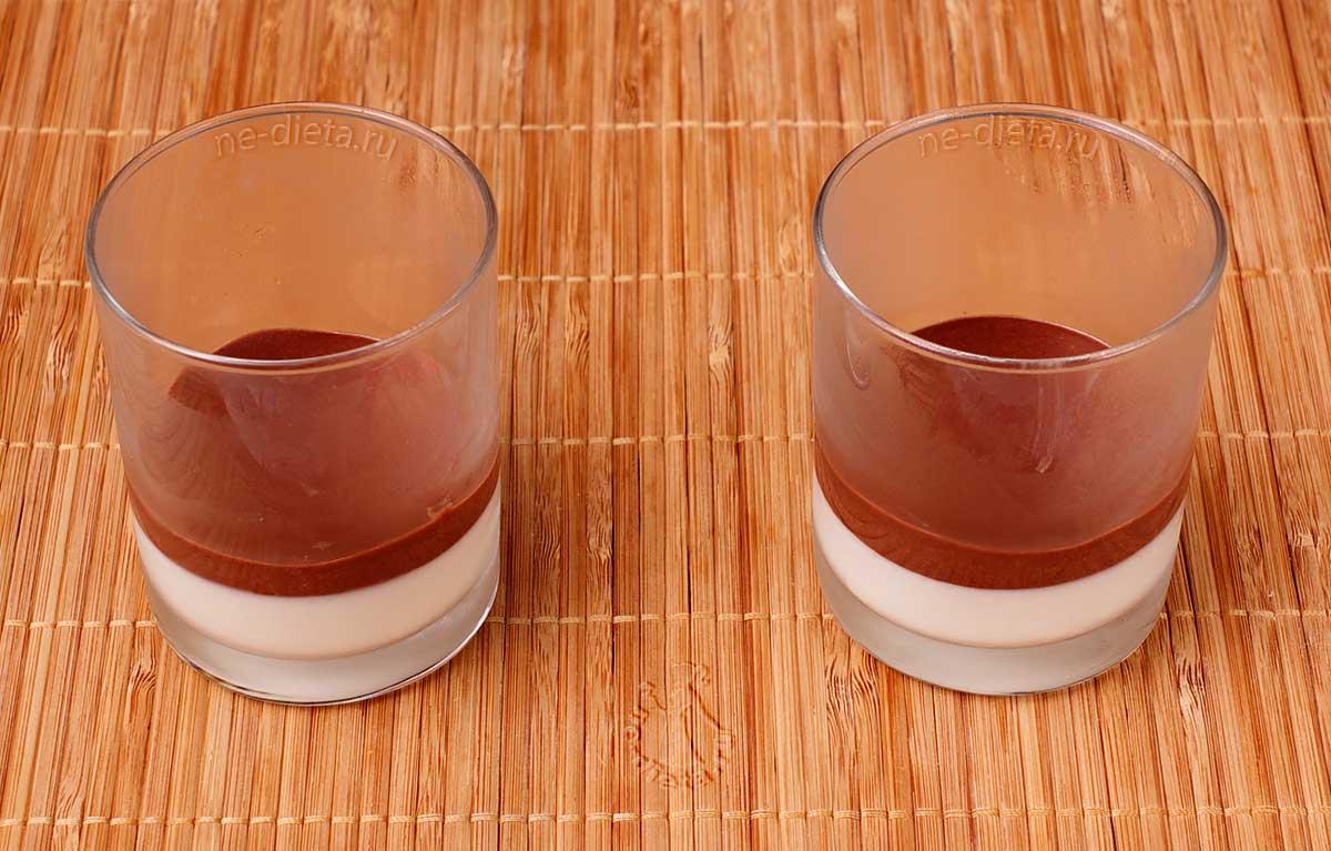 Налить слой шоколадного желе