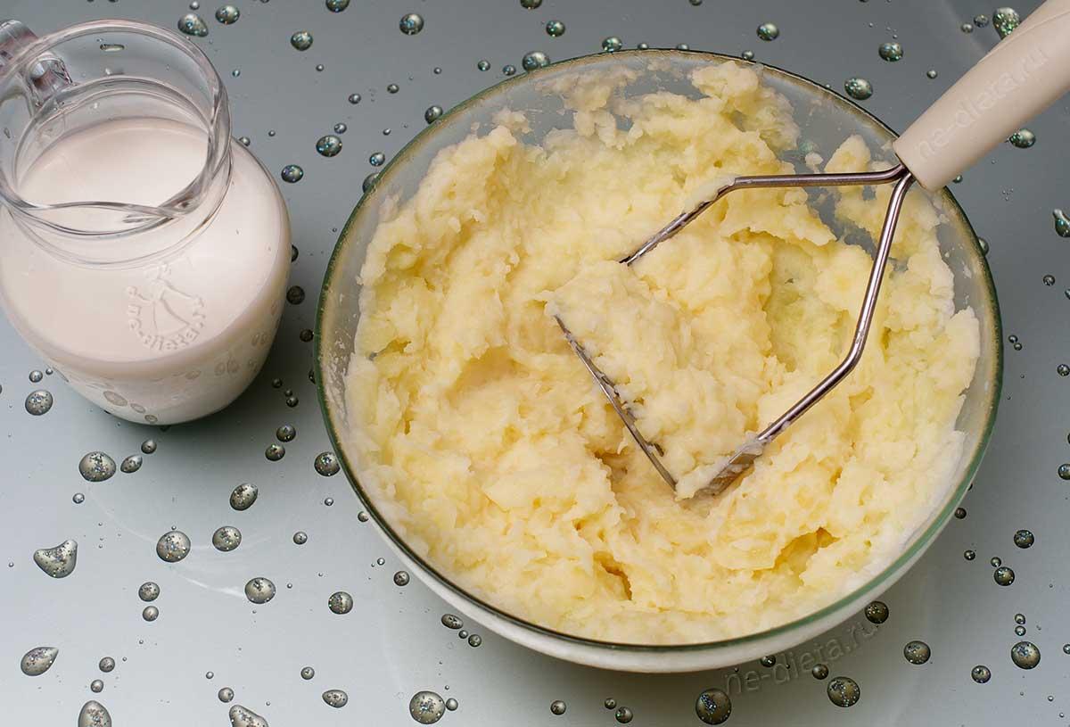 Картофель размять с молоком