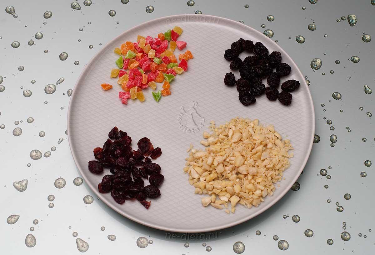 Орехи и сухофрукты для пасхи