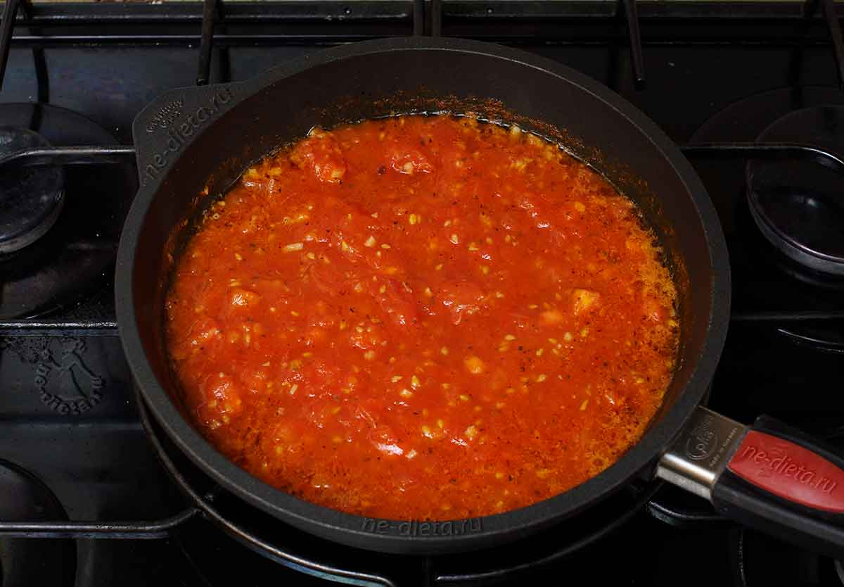 Томатный соус для курицы пармезан