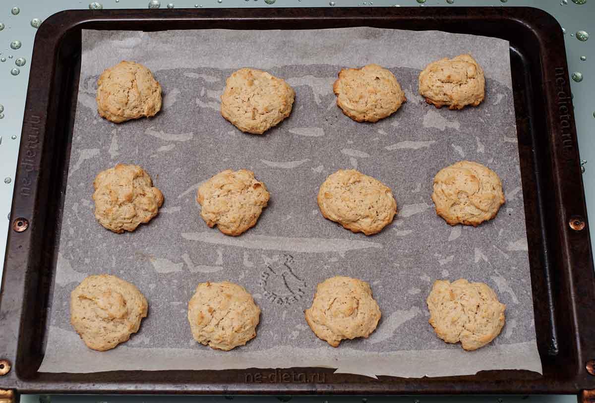 Яблочное печенье в духовке