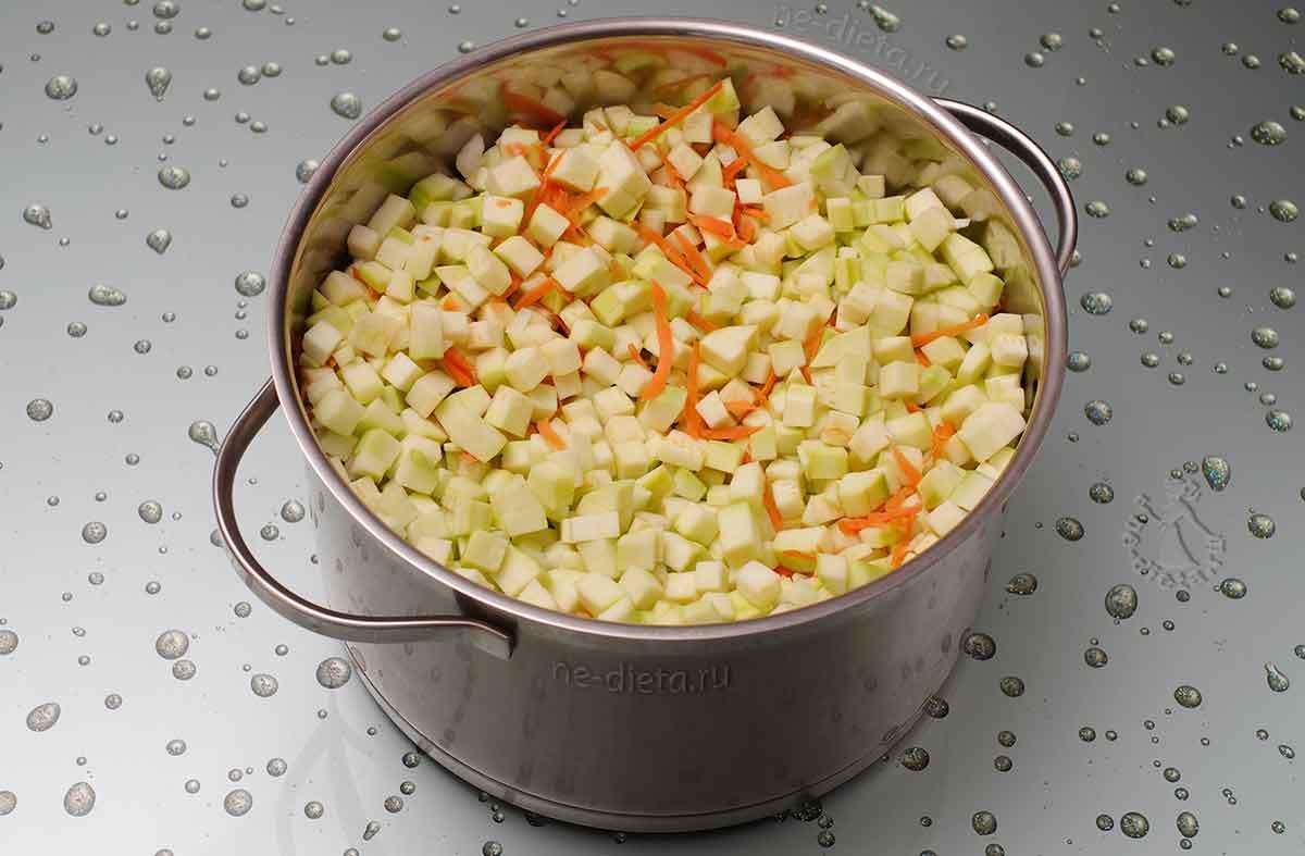 Варить овощи в течение часа
