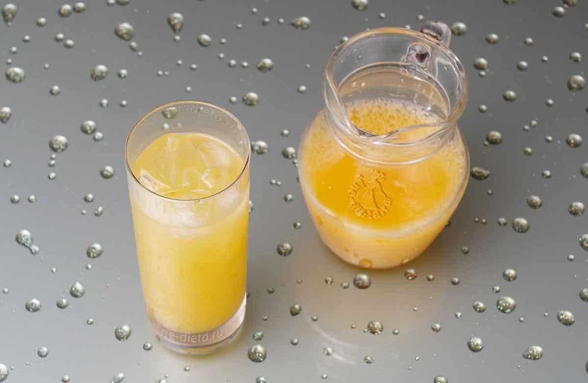Налить апельсиновый сок