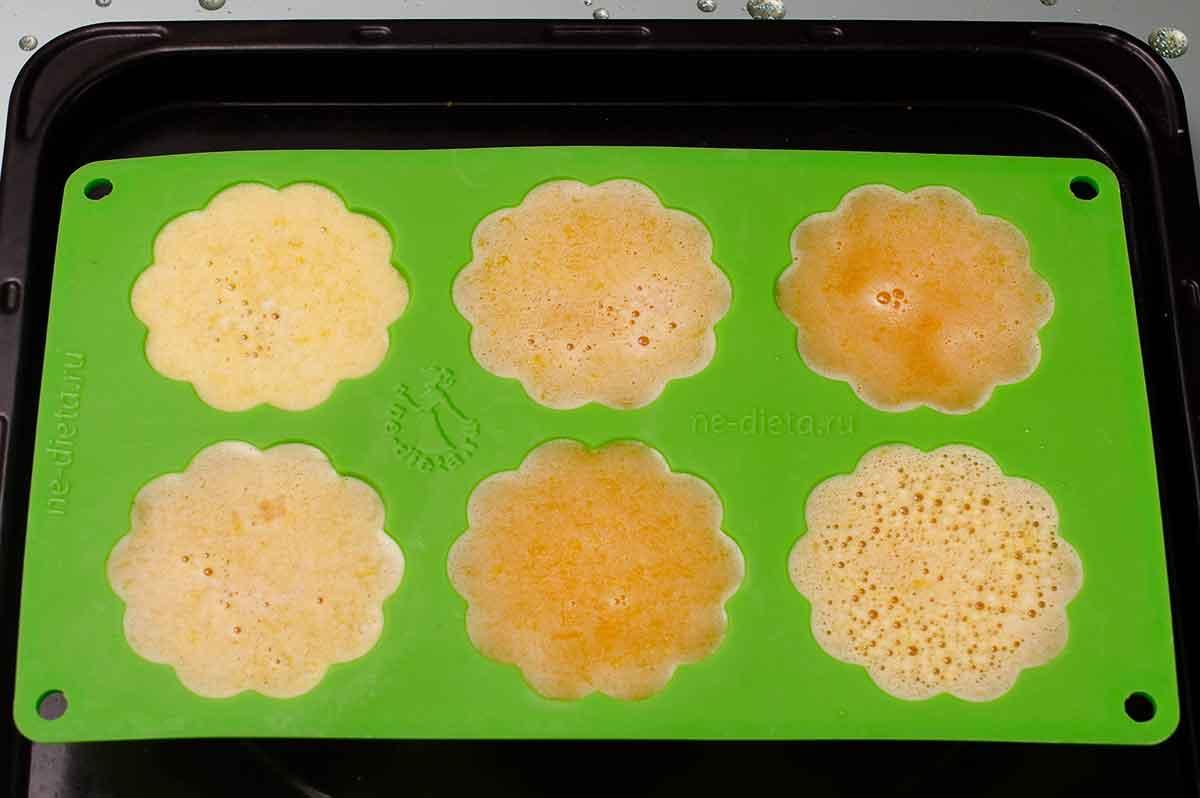 Десерт из тыквы в силиконовых формочках