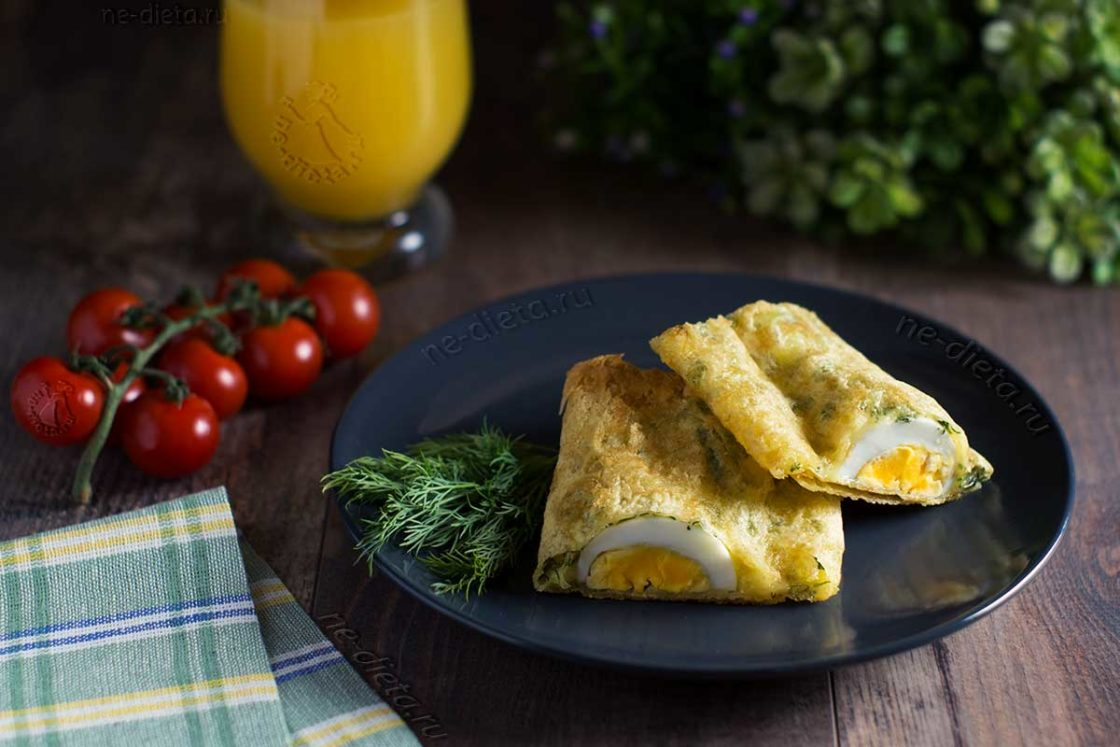 Яйца в лаваше на завтрак