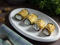 Рулетики из баклажанов с творожным сыром