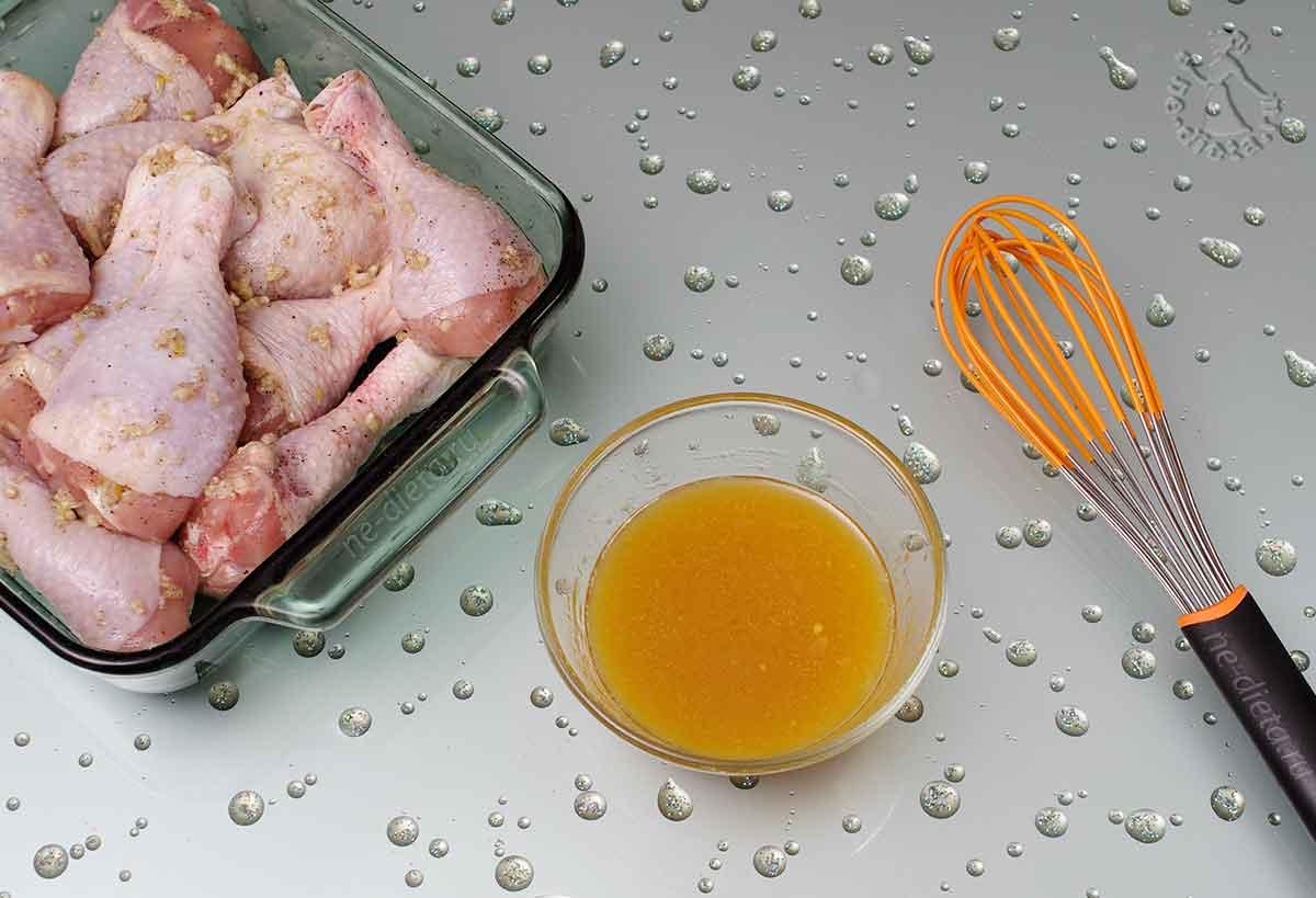 Маринад для куриных ножек с медом и горчицей